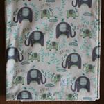 baby bedding, cot/ crib quilt, gorgeous unisex elephant print