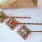 Swarovski crystal Antique Bronze filigree hair clips - set of 3