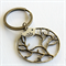 Bronze Tree and Silver Bird Keyring