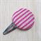 Large Knit Hair Clip - Pink / Lemon