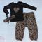 Leopard and Animal print Harem pant top set girl