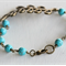 Turquoise and Bronze Leaf Bracelet