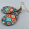 Teardrop Earrings - Mexican Tiles Resin Cabochon