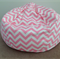 CHILDREN'S BEAN BAG ZIG ZAG SOFT PINK. Other colours avail. Mint Green, Lavender