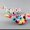 Brooch - Colourful Geometric Birds