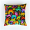 Fantastic Cats Cushion Cover in Yellow, Lime, Emerald, Pink, Orange, Red, Blue,
