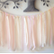 Shabby chic ribbon and lace garland. Photo prop. Backdrop. Pink & cream.