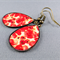 Teardrop Earrings - Poppies Resin Cabochon