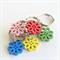 5 pack of Wood Flower Keyrings