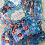 5 x 6 Packs DELUXE DISNEY FROZEN Birthday Party Favor Packs Elastic Hair Ties