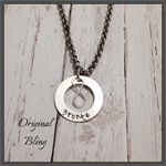 Personalised Hand Stamped Infinity Name Pendant