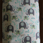 baby bedding, cot/ crib quilt cover, elephants