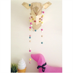 Felt Ball Garland in Light Pink, Yellow, Pink, White, Sand, Mint