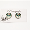 Dragonfly Design Stud Earrings