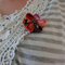 Japanese fabric Floral Brooch