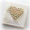 20th wedding anniversary card gift boxed paper heart ivory and pink