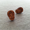 WOODEN SKULL EARRINGS