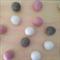 Felt Ball Garland Dusk in Light Pink, Taupe, White