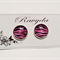 Pink Zebra Design Stud Earrings