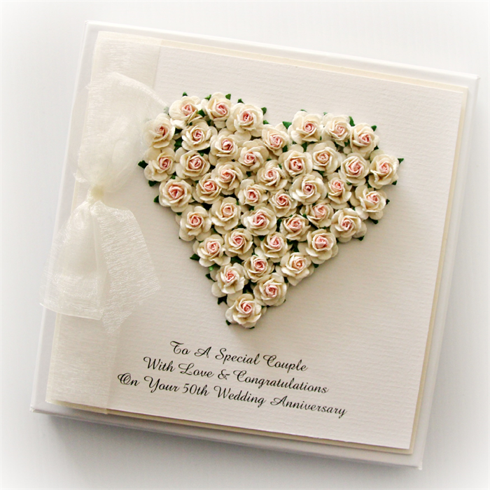 50th anniversary custom made card  personalised  gift