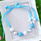 Frozen Bead Necklace in Blue, Silver & White with removable Snowflake Clip