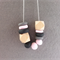 Geometric Wooden Polymer Clay Necklace