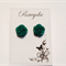 Green Rose Stud Earrings