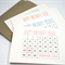 Personalised Birthday Card - Calendar - Pick a Colour, Add Name, Date - HB_CAL