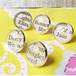Pride and Prejudice Thumb Tack Set Push Pins Jane Austen Mr Darcy Lizzy Bennet