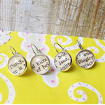 Pride and Prejudice Stitch Markers Mr Darcy Jane Austen Elizabeth Bennet Silver