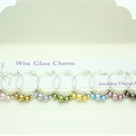 Wine Glass Charms in Elegant Presentation Folder