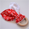 Red Paisley Wooden Baby Teether