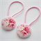 Button Hair Ties - pink & cream floral