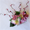 Mauve Floral hair Comb with bud Spray
