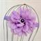 Purple Flower Headband, size 3 yrs - teen