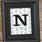 N is for Nate - Geo Wall Art Print