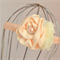Peach Flower Headband, size 3 yrs - teen