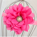 Fuschia Flower Headband, size 3yrs - teen
