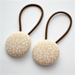 Button Hair Ties - brown floral