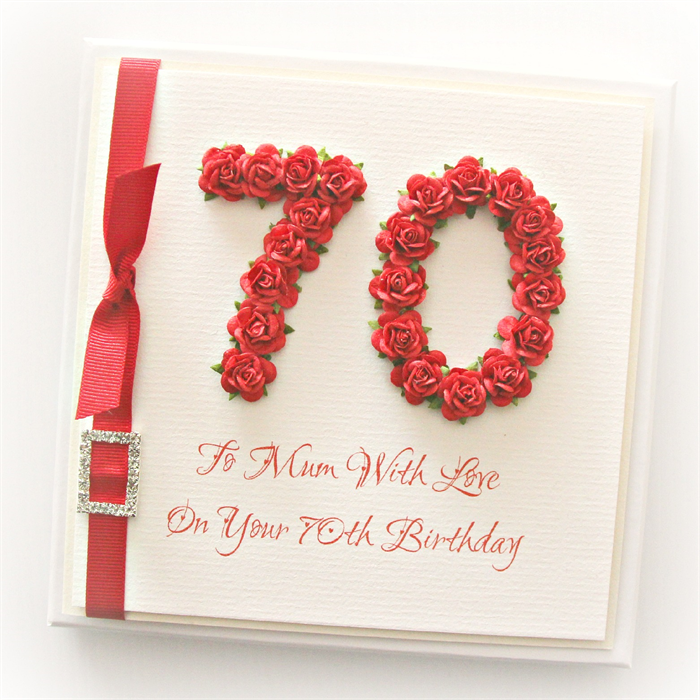 70th mum birthday card gift boxed paper roses red the little card 70th mum birthday card gift boxed paper roses red bookmarktalkfo Choice Image