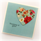 thinking of you card turquoise vintage heart