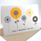 Happy Birthday or Mothers Day Card - Yellow and Grey Flowers - HMD005