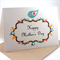 Happy Mothers Day Card - Blue Bird on Floral Signage - HMD002