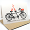 Engagement Card - Tandem Bike with Love Birds and Red Flowers - ENG017