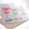 Happy Mothers Day Card - Shabby Chic Patchwork Hot Air Balloons - HMD001
