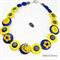 Sunshine Happy Bird - Yellow - Buttons Necklace - Jewellery - Bonus Earrings