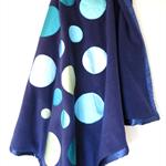 Large Blue Arctic Fleece Double Layered Blanket