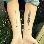 Temporary tattoos x8 feather and arrow