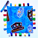 THOMAS THE TANK ~ TRACKSTAR~ Baby Security Blanket Blankie Taggie Toy (LAST ONE)