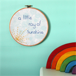 sunshine hoop | textile accessory | baby nursery bedroom gift